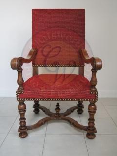 French Upholstered Carver, Chatsworth Fine Furniture